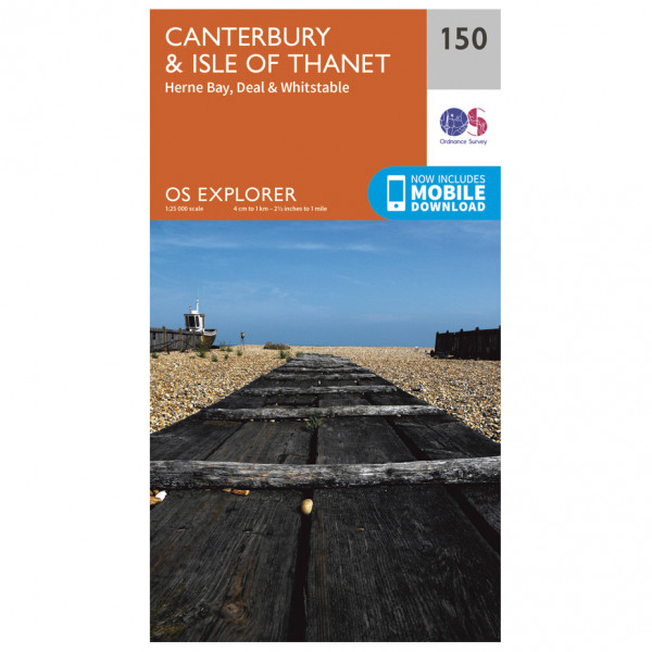 Ordnance Survey - Canterbury / Isle Of Thanet - Hiking map