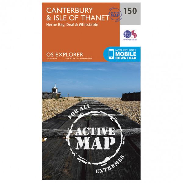 Ordnance Survey - Canterbury / Isle Of Thanet Waterproof - Wandelkaart