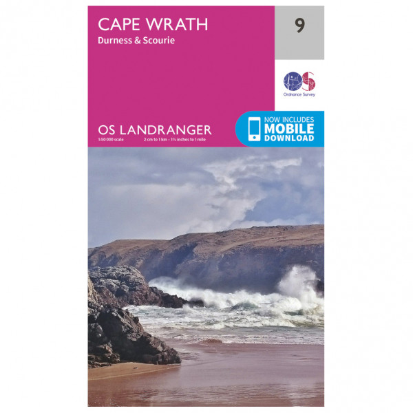 Ordnance Survey - Cape Wrath - Vandrekort