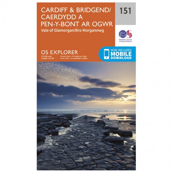 Ordnance Survey - Cardiff / Bridgend - Vandrekort