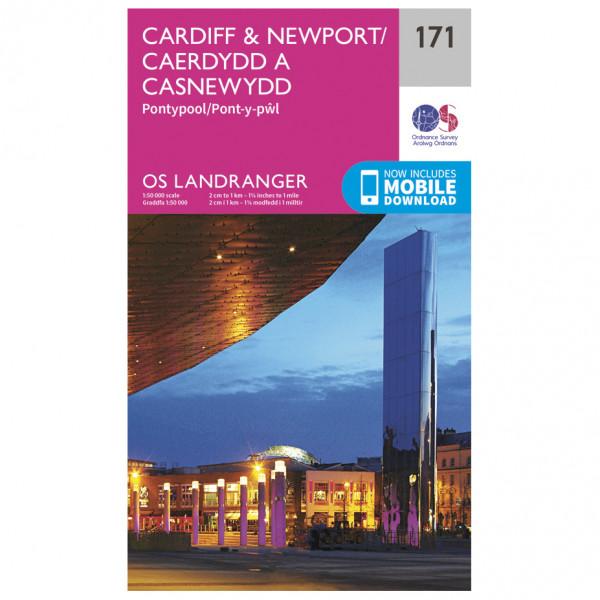 Ordnance Survey - Cardiff / Newport - Hiking map