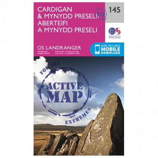 Ordnance Survey - Cardigan / Mynydd Preseli Waterproof - Vandrekort
