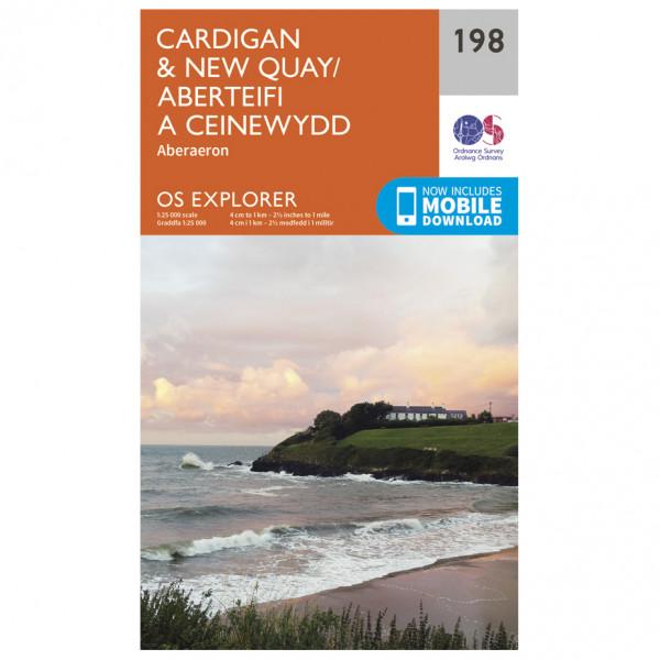 Ordnance Survey - Cardigan / New Quay - Vandringskartor