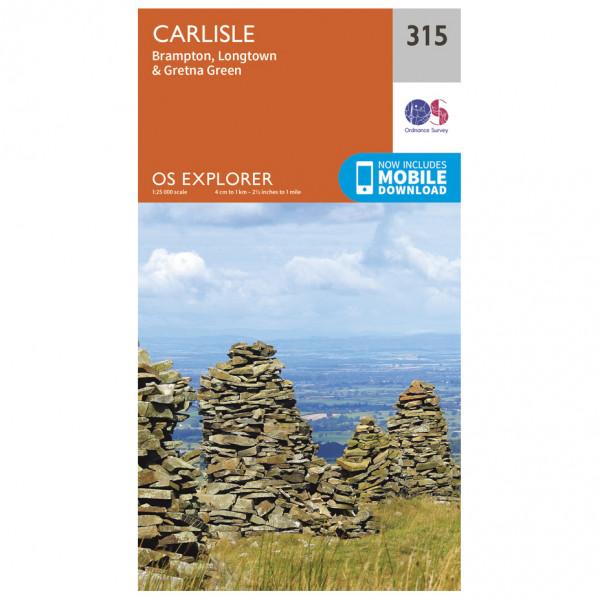 Ordnance Survey - Carlisle / Brampton / Longtown / Gretna Green - Vandrekort
