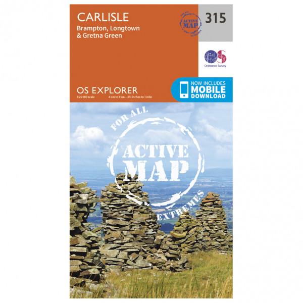 Ordnance Survey - Carlisle Waterproof - Vaelluskartat