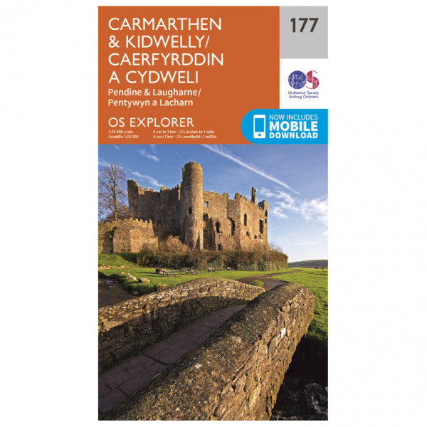 Ordnance Survey - Carmarthen / Kidwelly - Wanderkarte