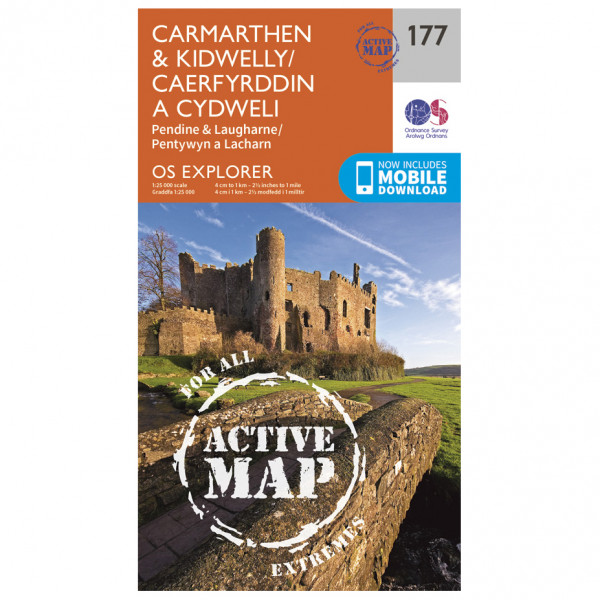 Ordnance Survey - Carmarthen / Kidwelly Waterproof - Vaelluskartat
