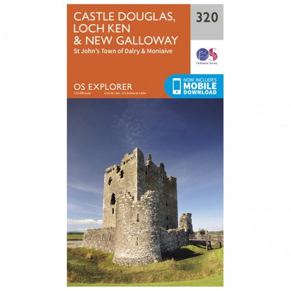 Ordnance Survey - Castle Douglas / Loch Ken / New Galloway - Vaelluskartat