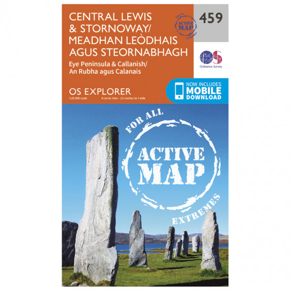 Ordnance Survey - Central Lewis / Stornaway Waterproof - Vandringskartor