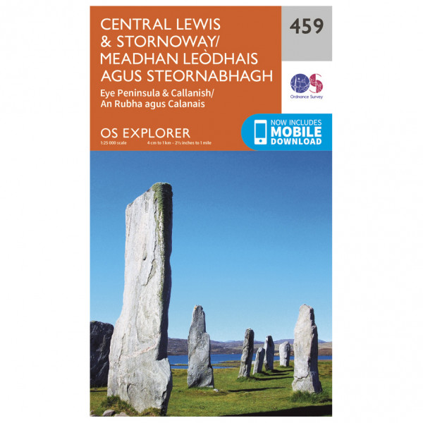 Ordnance Survey - Central Lewis / Stornoway - Hiking map