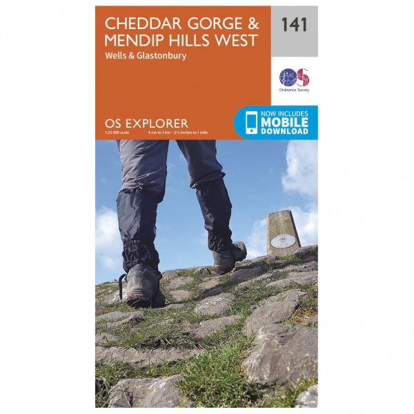 Ordnance Survey - Cheddar Gorge / Mendip Hills West - Hiking map