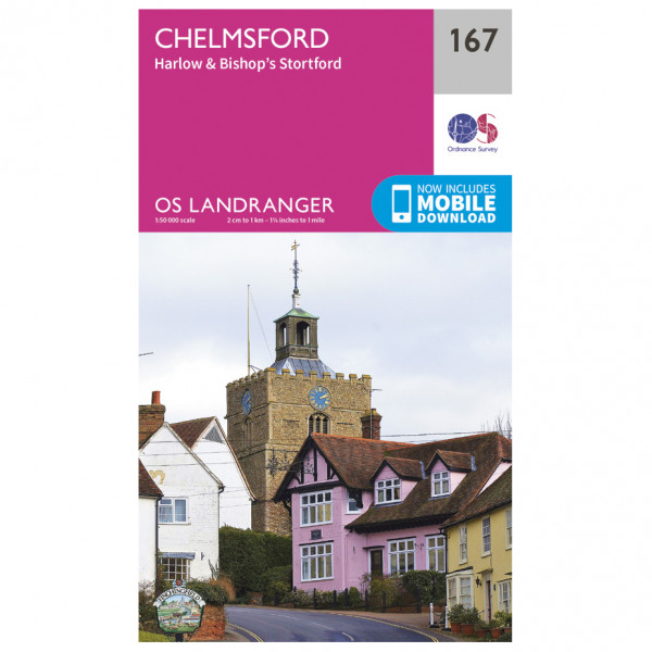 Ordnance Survey - Chelmsford / Harlow - Vandrekort