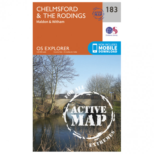 Ordnance Survey - Chelmsford / The Rodings Waterproof EXPL183 - Wanderkarte