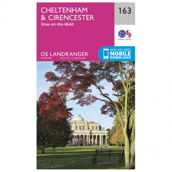 Ordnance Survey - Cheltenham / Cirencester - Vandrekort
