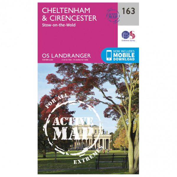 Ordnance Survey - Cheltenham / Cirencester Waterproof - Hiking map
