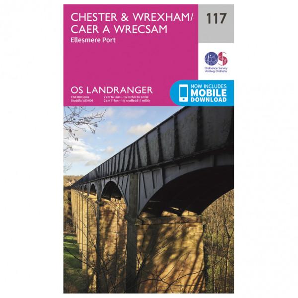 Chester / Wrexham - Hiking map