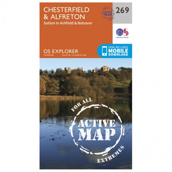 Ordnance Survey - Chesterfield / Alfreton Waterproof - Vandringskartor
