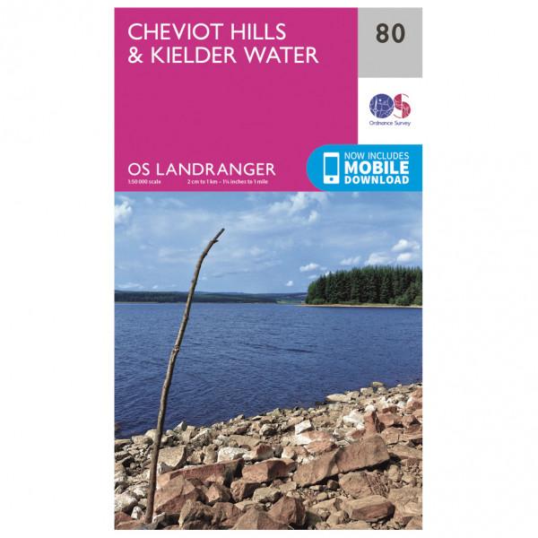 Ordnance Survey - Cheviot Hills & Kielder Water - Wandelkaarten
