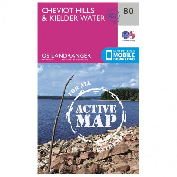 Ordnance Survey - Cheviot Hills & Kielder Water Waterproof - Vaelluskartat