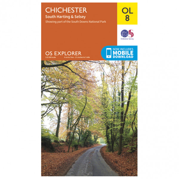 Ordnance Survey - Chichester / South Harting & Selsey Outdoor - Hiking map