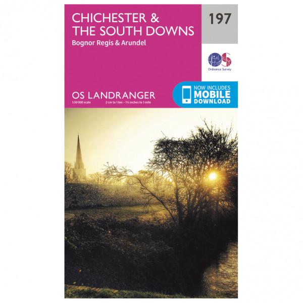 Ordnance Survey - Chichester / The South Downs - Vandrekort