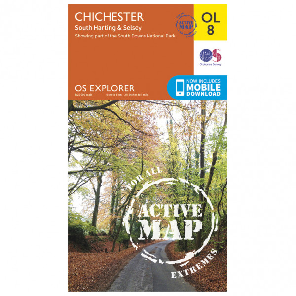 Ordnance Survey - Chichester South Harting Area Active Area Waterproof - Hiking map
