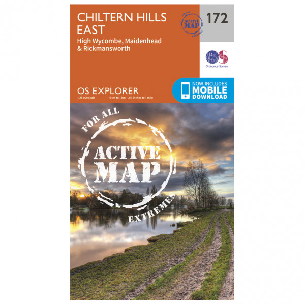 Ordnance Survey - Chiltern Hills East Waterproof - Mapa de senderos