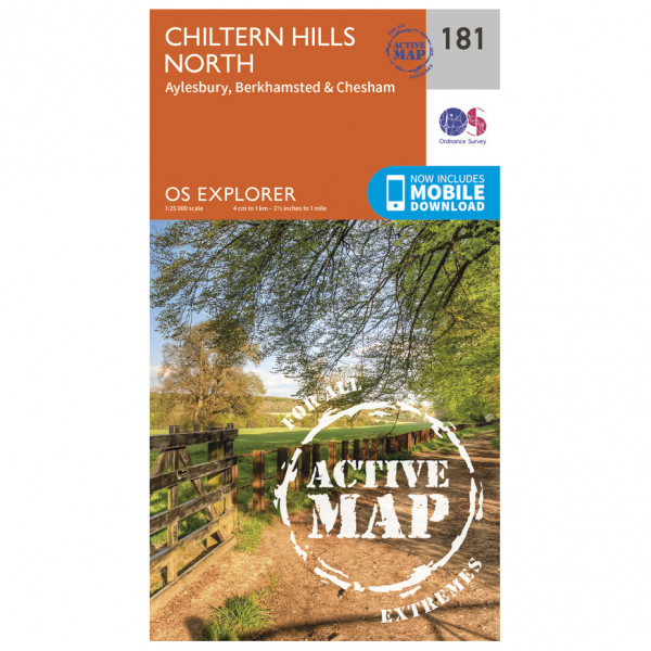 Ordnance Survey - Chiltern Hills North Waterproof - Mapa de senderos