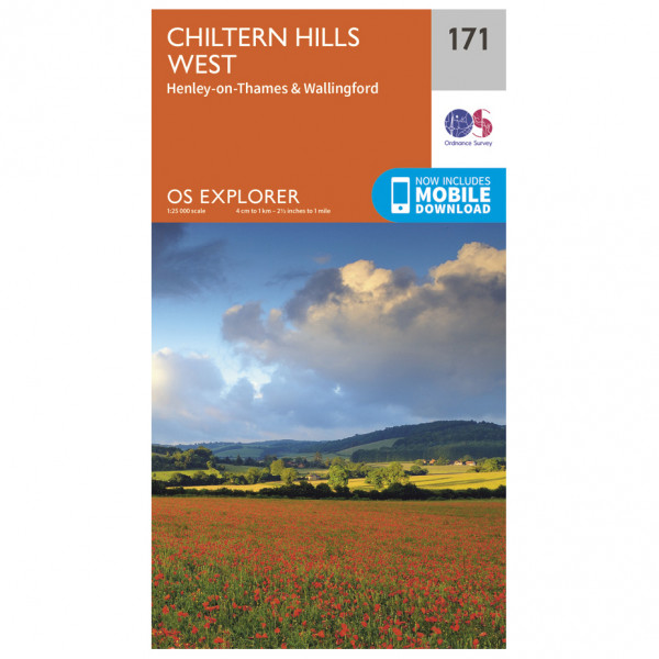 Ordnance Survey - Chiltern Hills West - Vandrekort