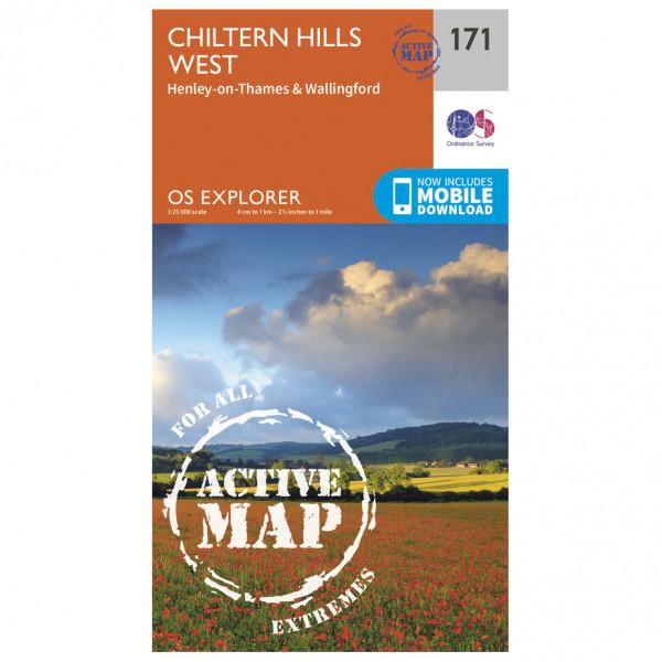 Ordnance Survey - Chiltern Hills West / Henley-On-Thames Waterproof - Wandelkaarten