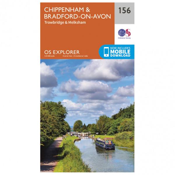 Ordnance Survey - Chippenham / Bradford-On-Avon - Vandrekort