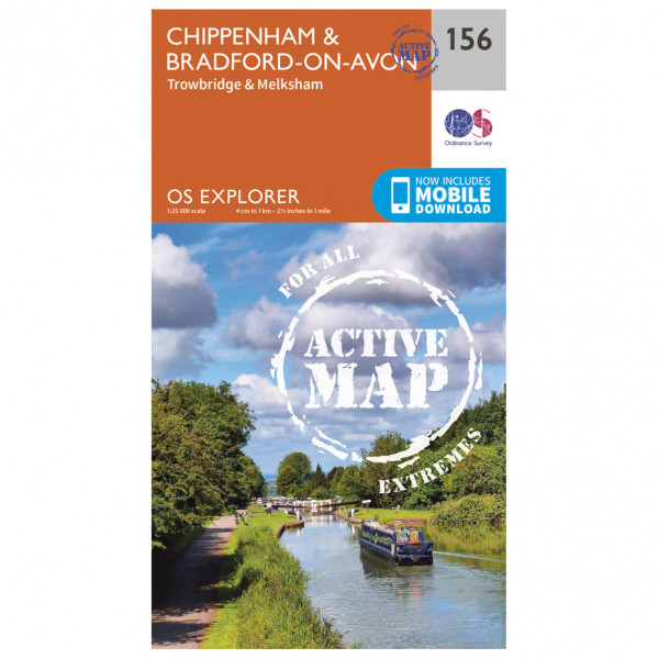 Ordnance Survey - Chippenham / Bradford-On-Avon Waterproof - Vandrekort