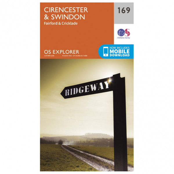 Ordnance Survey - Cirencester / Swindon - Vaelluskartat