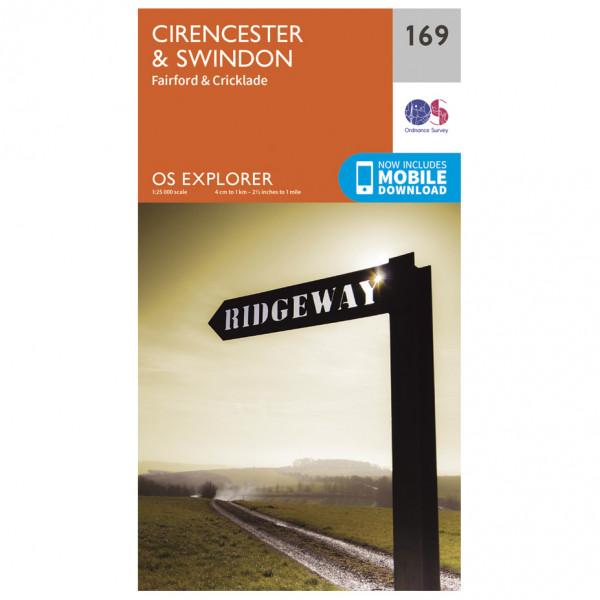 Ordnance Survey - Cirencester / Swindon - Vandrekort