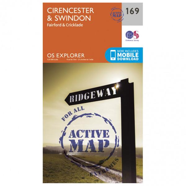 Ordnance Survey - Cirencester / Swindon Waterproof - Mapa de senderos