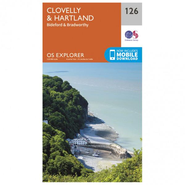 Ordnance Survey - Clovelly / Hartland - Mapa de senderos