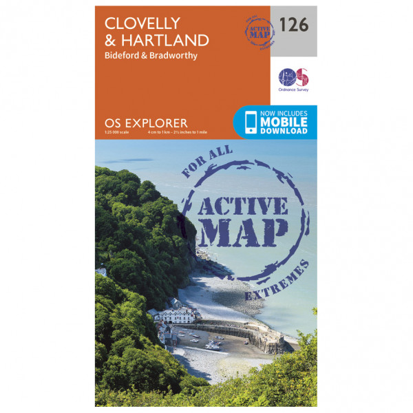 Ordnance Survey - Clovelly / Hartland Waterproof - Vaelluskartat
