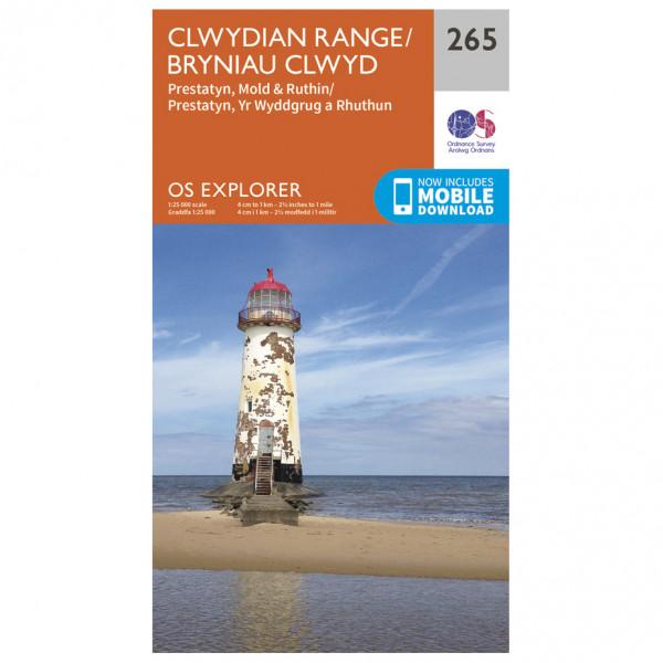 Ordnance Survey - Clwydian Range / Bryniau Clwyd - Wandelkaarten