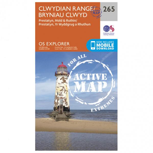 Ordnance Survey - Clwydian Range / Prestatyn / Mold / Ruthin Waterproof - Vaelluskartat