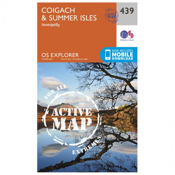 Ordnance Survey - Coigach / Summer Isles Waterproof - Vandrekort