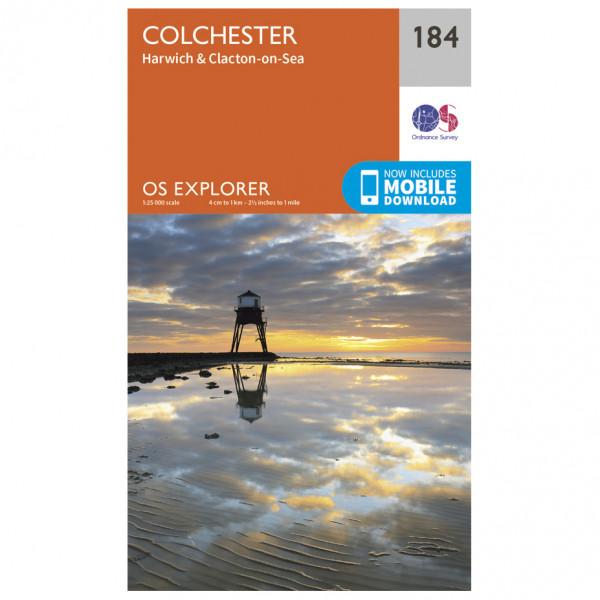Ordnance Survey - Colchester / Harwich / Clacton-On-Sea - Vandringskartor