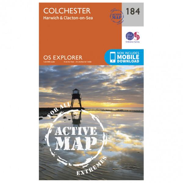 Ordnance Survey - Colchester / Harwich / Clacton-On-Sea Waterproof - Wandelkaarten