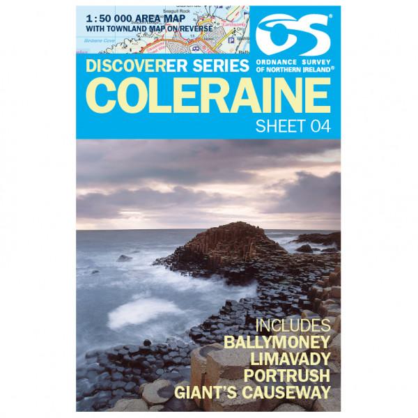 Ordnance Survey - Coleraine (Balymoney, Limavady, Portrush) IRD04 - Wanderkarte