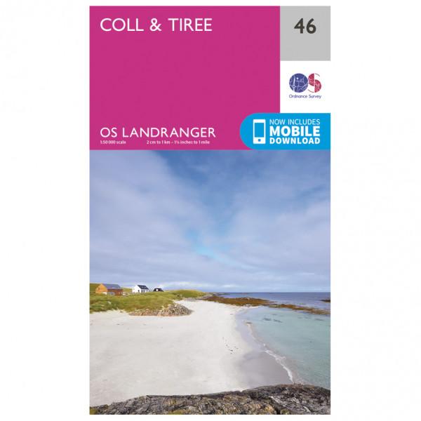 Ordnance Survey - Coll / Tiree - Vandrekort