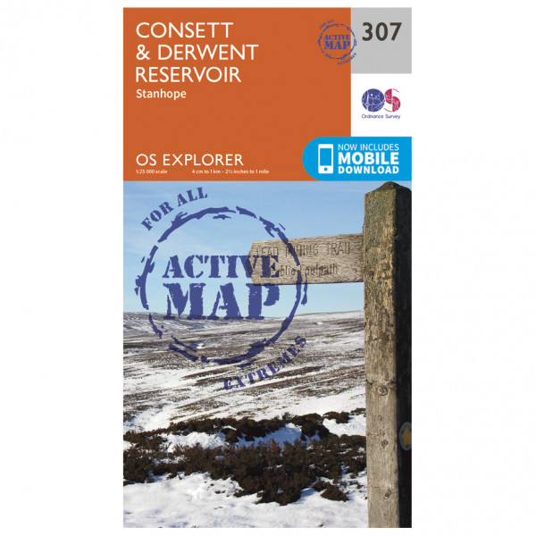 Ordnance Survey - Consett / Derwent Reservior Waterproof - Hiking map