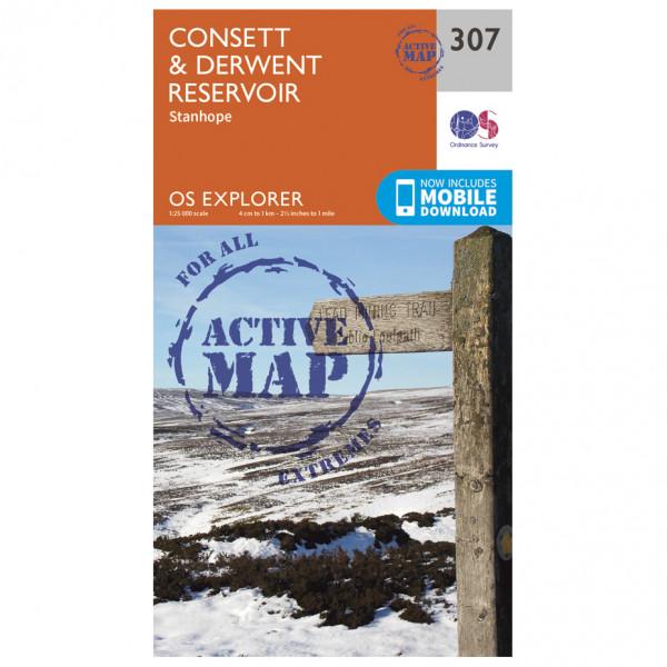 Ordnance Survey - Consett / Derwent Reservior Waterproof - Wandelkaarten