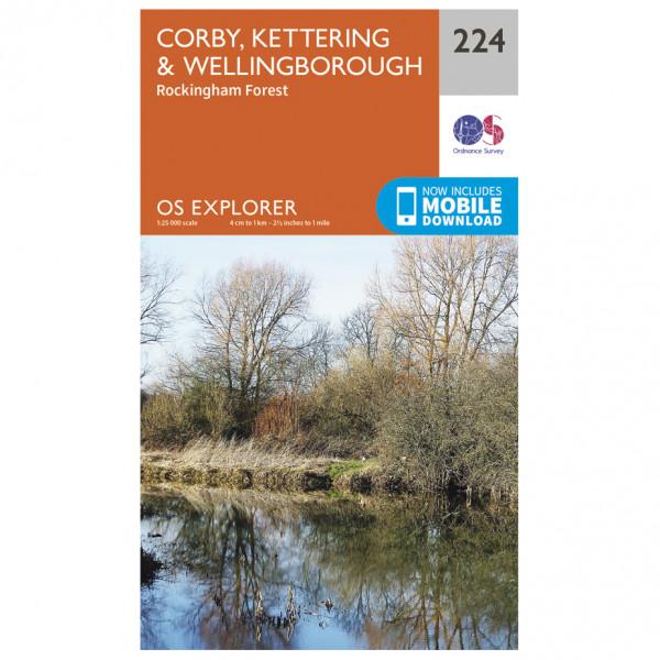 Ordnance Survey - Corby/ Kettering / Wellingborough - Wandelkaart