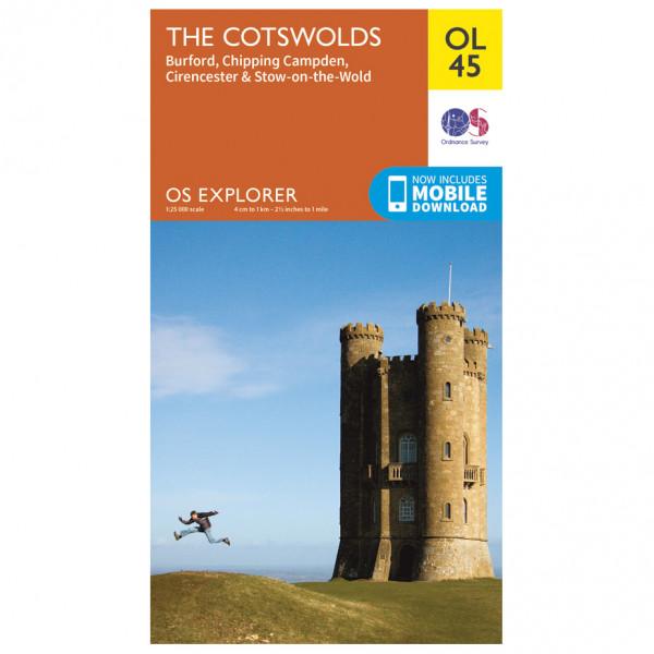 Ordnance Survey - Cotswolds (The) Outdoor - Mapa de senderos