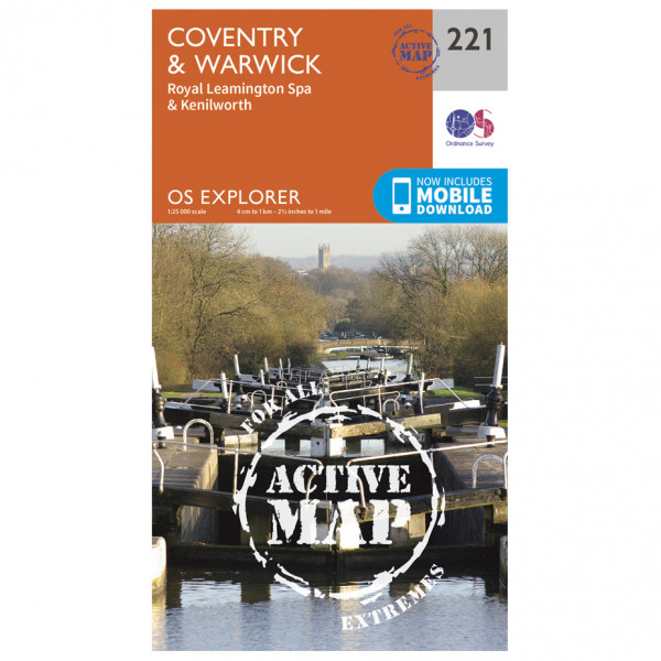 Ordnance Survey - Coventry / Warwick Waterproof - Hiking map