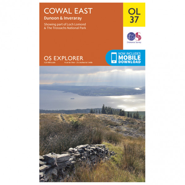Ordnance Survey - Cowal East / Dunoon / Iverary Outdoor - Hiking map
